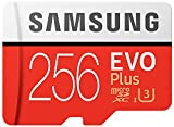 Samsung 256GB Microsdxc Evo+ plus 256GB 95mb UHS-I Type 3 Class 10 Micro SD with Sd adapter and HNV minicase