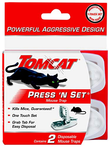 Tomcat Press 'N Set Mouse Trap, 2-Pack