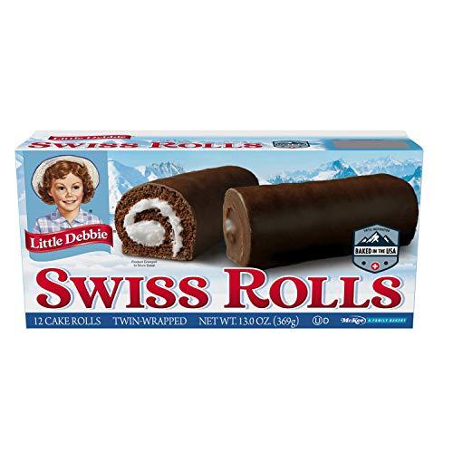 Little Debbie Swiss Rolls, 12 Cake Rolls (Twin Wrapped) - 16 Pack
