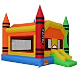Cloud 9 The Crayon Bounce House - Large Inflatable Bouncing Jumper with Slide and Air Blower