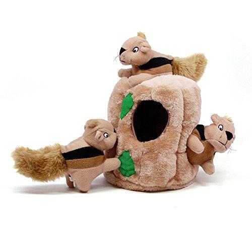 Outward Hound Hide a Squirrel Fun Hide & Seek Interactive Puzzle Plush Dog Toy,...