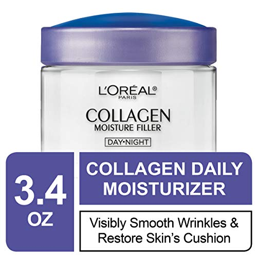 Collagen Face Moisturizer by L'Oreal Paris Skin Care I Day and Night Cream I Anti-Aging Face Cream to Smooth Wrinkles I Non-Greasy I 3.4 Ounce (Packaging May Vary) 4