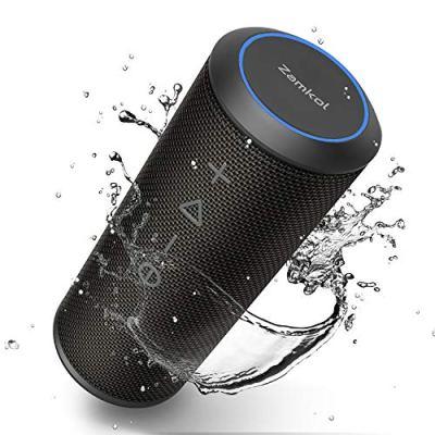 Zamkol Cassa Altoparlante Bluetooth 24W, IPX6 Portatile Wireless Speaker TWS & AUX & USB, 4.2 Bluetooth Subwoofer Shockproof Speakers, Audio Stereo 360 per Smartphone, Computer, TV, Viaggio