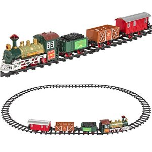 Classic Collection Locomotive Train Set with Light and Sound Battery Operated (12 Piece) 51sFJuuhoyL