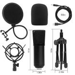 DricRoda-USB-MicrophoneProfessional-Computer-Mic-Podcast-Mic-192kHz24bit-Studio-Condenser-Microphone-with-Tripod-StandShock-Mount-and-Pop-Filter-for-RecordingGamingYouTubePlug-Play