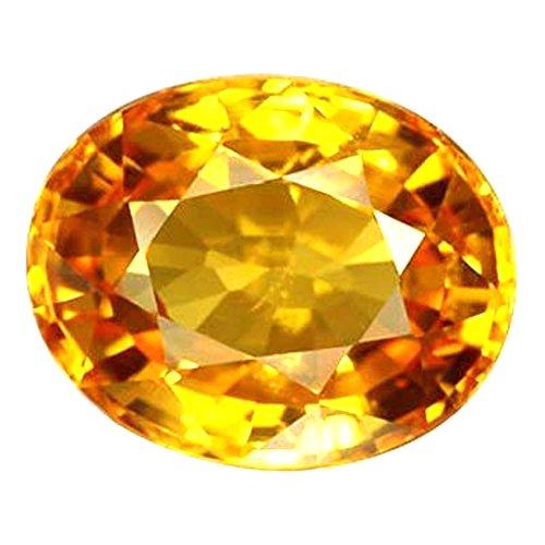 Buy GEM Creations Certified Natural Yellow Sapphire (Pukhraj) 5.25 Ratti  rashi Ratan for jyotishi Astrology at Amazon.in