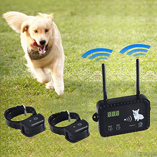 JIEYUAN Wireless Dog Fence Pet Containment System, Safe Effective Vibrate/Shock...