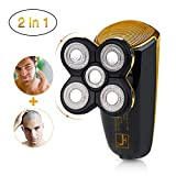 Dee Banna Wet Dry Electric Rotary Shaver,Cordless Waterproof Razor Bald Head Shaver with 5 floating head fast USB Recharge Security Lock Mode for Men Travel Or Home Use