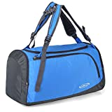G4Free 35L Lightweight Sports Gym Tote Bag Travel Duffle Backpack Weekend Bag with Shoes Compartment (Blue)