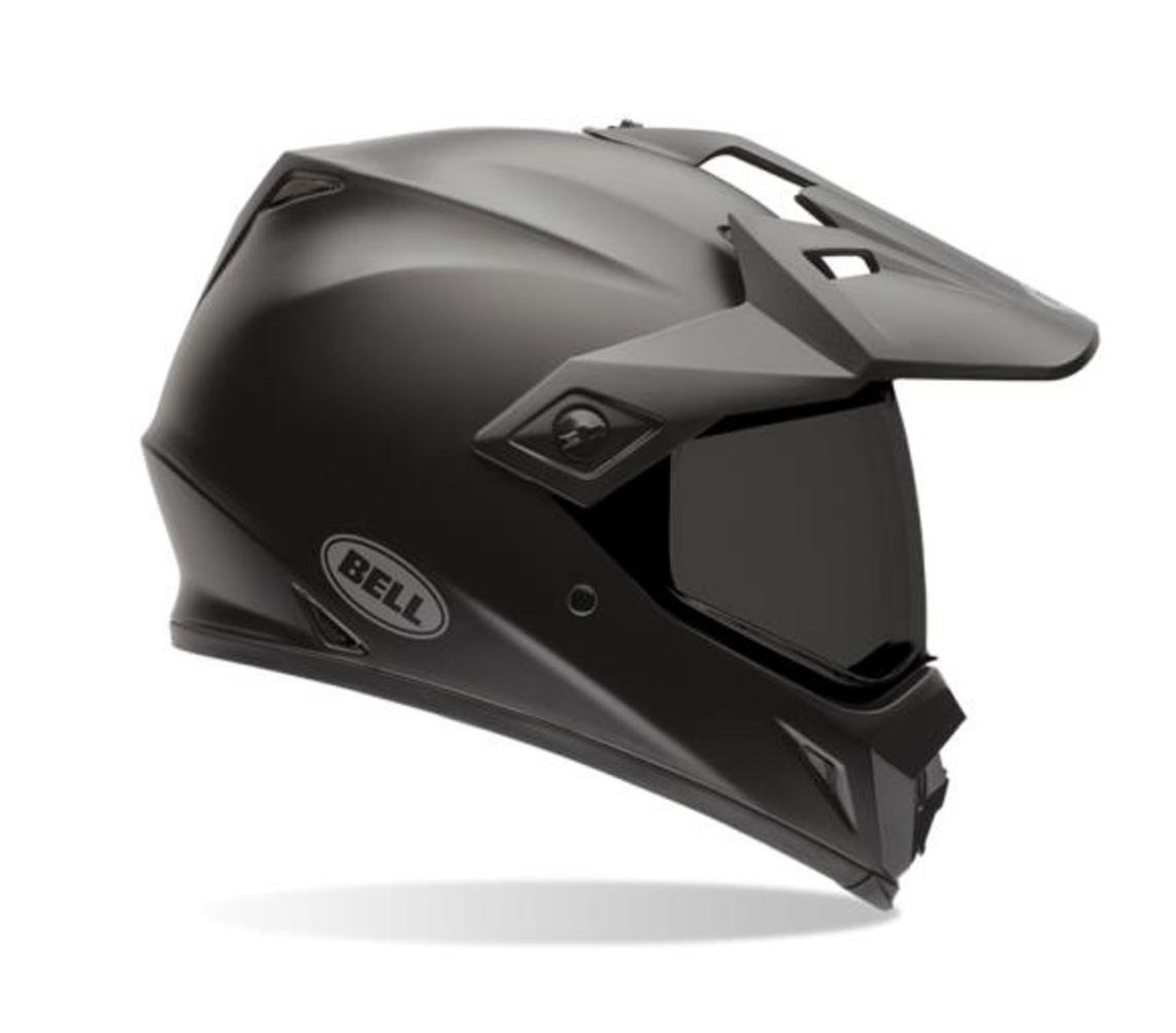 Bell MX-9 Adventure Full-Face Motorcycle Helmet (Solid Matte Black, Large)
