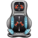 Comfier Shiatsu Neck & Back Massager - 2D/3D Kneading Full Back Massager with Heat & Adjustable Air Compress, Massage Chair Pad for Shoulder Neck and Back Waist Hips,Full Body Pain Relief