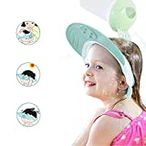 ONEDONE Baby Shower Cap Adjustable Shampoo Protect Hats Funny Soft Silicone Shade Cap (Blue)