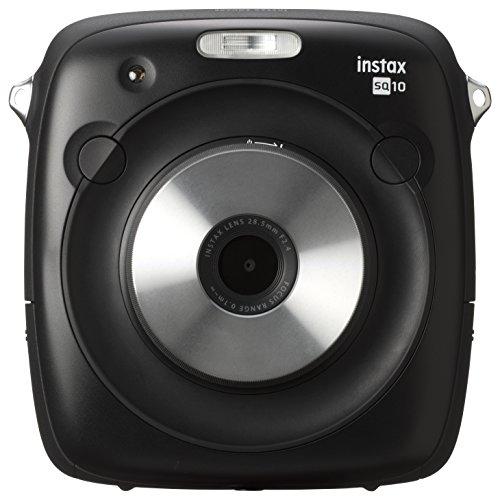 Fujifilm Film Camera with 3″ LCD, Black (Instax Square SQ10 Instant Camera)