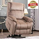 Harper&Bright Designs Power Lift Chair Soft Fabric Upholstery Recliner Living Room Sofa Chair with Remote