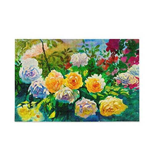Art-Abstract-Flowers-Jigsaw-Puzzles-for-Adults-Kids-500-Piece-with-Mesh-Storage-Bag