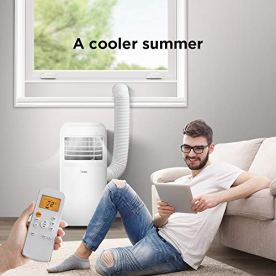 Midea-3-in-1-Portable-Air-Conditioner-Dehumidifier-Fan-for-Small-Rooms-up-to-150-sq-ft-8000-BTU-5300-BTU-SACC-control-with-Remote-Smartphone-or-Alexa