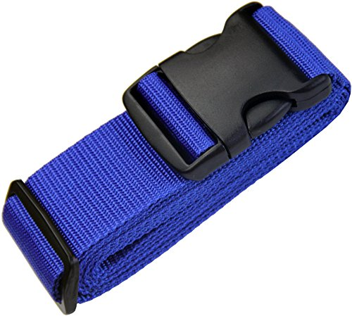 TRANVERS Luggage Strap For Suitcase Baggage Belt With Luggage Address Tag 1-Pack Blue