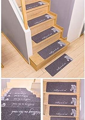 Amazon Com Vinyl Stair Treads Anti Slip Stair Treads Wooden   Best Carpet To Use On Stairs   Hardwood   Flooring   Rug   Stairway   Carpet Cleaner