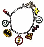 Blue Heron Justice League 9 Logo Charms Lobster Clasp Bracelet w/Gift Box