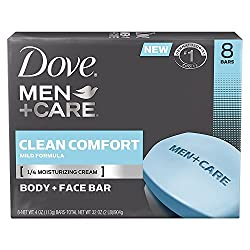 Dove Men+Care Body and Face Bar, Clean Comfort 4 oz, 16 BARS  Image