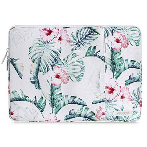 Soft Laptop Sleeve Bag For Macbook Dell HP Asus Acer Lenovo Surface Notebook Air/Pro 11 13 13.3 14 15 Inch Canvas Cover Vertical Leaf 13.3 inch