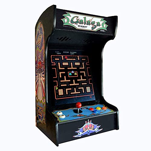 Doc-and-Pies-Arcade-Factory-Classic-Home-Arcade-Machine-Tabletop-and-Bartop-412-Retro-Games-Full-Size-LCD-Screen-Buttons-and-Joystick-Black