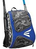 EASTON E110BP Bat & Equipment Backpack Bag | Baseball Softball | 2019 | Royal | 2 Bat Sleeves | Smart Gear Storage | Vented Shoe Pocket | Rubberized Zipper Pulls | Fence Hook