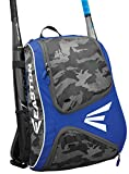EASTON E110BP Bat & Equipment Backpack Bag | Baseball Softball | 2020 | Royal | 2 Bat Sleeves | Smart Gear Storage | Vented Shoe Pocket | Rubberized Zipper Pulls | Fence Hook