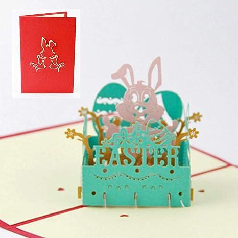 Biglietto Di Auguri Di Pasqua 3d Pop Up Regalo Fai Da Te