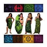 Sarongs, Assorted. Celtic/Tribal, Green Shades. Free Gift!
