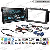 Volunteer Audio Kenwood DPX593BT Double Din Radio Install Kit with Bluetooth, Sirius XM Ready, CD Player Fits 2007-2008 Ram, 2006-2007 Chrysler 300 (Retains Steering Wheel Controls)