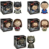 Dorbz: Batman v Superman: Batman, Superman, Wonder Woman, Aquaman and Armored Batman Vinyl Figures! Set of 5