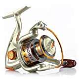 X-CAT Spinning Fishing Reel,12 Ball Bearings Light and Smooth,1000 to 7000 Series,Left/Right Interchangeable Spinning Reels Saltwater Freshwater Fishing (NA7000)