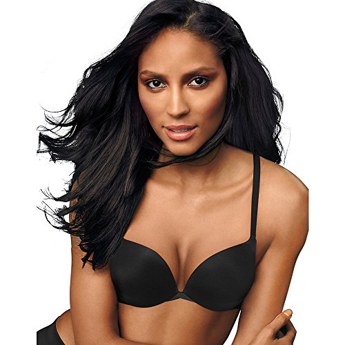 71I 6cz1kCL nylon/spandex Designed with Wonderbra®, this bra pushes in for natural cleavage. Sexy plunge neckline.