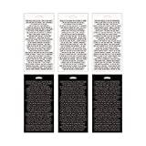 Small Talk Stickers by Tim Holtz Idea-ology, 8.25 x 4.25 Inch Sheet Size, 296 Stickers, Black/White, TH93193
