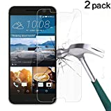 HTC 10 Screen Protector, TANTEK [Bubble-Free][HD-Clear][Anti-Scratch][Anti-Glare][Anti-Fingerprint] Tempered Glass Screen Protector for HTC 10 (One M10,One 10,M10)[2016],-[2Pack]