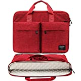 KINGSLONG 17 17.3 Inch Laptop Case Bag Sleeve, Lightweight Laptop Computer Notebook Ultrabooks Carrying Case Sleeve Handbag Cover for Men Women Fit for Acer Asus Dell Lenovo HP Toshiba, Red