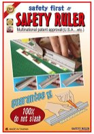 RULER-New-Design-30-cm-12-Inch-Metal-Craft-Safety-RulerLight-Weight-with-Folding-Safety-GuardUse-with-Rotary-CutterStanley-or-Xacto-For-PaperLeatherFabricQuiltingScrap-bookingArtOffice