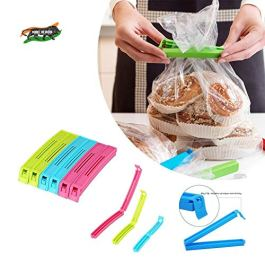 VR 18 Pcs – 3 Different Size Plastic Food Snack Bag Pouch Clip Sealer Large, Medium, Small Plastic Snack Seal Sealing…
