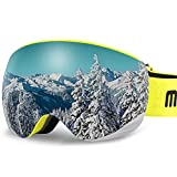 AKASO OTG Ski Goggles, Snowboard Goggles, Mag-Pro Magnetic Interchangeable Lenses, Anti-Fog, 100% UV Protection, Helmet Compatible, Snow Goggles for Men & Women, Free Balaclava Ski Mask Included