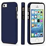 iPhone 5/5s/SE Case, CellEver Dual Guard Protective Shock-Absorbing Scratch-Resistant Rugged Drop Protection Cover for iPhone 5/5S/SE (Navy Blue)