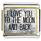 Pugster I Love You To The Moon And Back  Etched Venta de estilo italiano Fit Link Bracelet