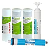 APEC Water Systems FILTER-MAX-ES50 50 GPD High Capacity Complete Replacement Filter Set For Essence Series Reverse Osmosis Water Filter System Stage 1-5