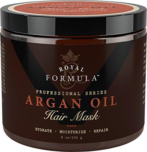 Argan Oil Hair Mask, 100% ORGANIC Argan & Almond Oils - Deep Conditioner, Hydrating Hair Treatment Therapy, Repair Dry Damaged, Color Treated & Bleached Hair - Hydrates & Stimulates Hair Growth, 8 Oz