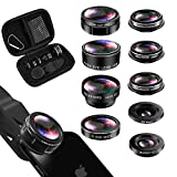 iPhone Lens Kit, Phone Lens for Andriod, KEYWING HD Cell Phone Lens for iPhone Xr, 7 Plus, 8 Plus, Xs max, Samsung. Macro+Telephoto Zoom+Fisheye+CPL+Wide Angle+Starburst+Kaleidoscope Lens