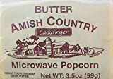 "Amish Country Microwave Popcorn Gourmet ""Hulless"" Ladyfinger Butter (10 bags)"