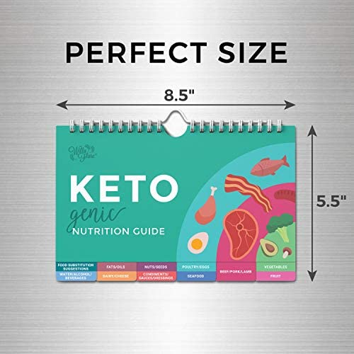 Willa Flare Keto Cheat Sheet Magnets - Easy Reference for 192 Keto Snacks and Foods! Correct Ketogenic Measurements for your Keto Cookbook - Easy Keto Diet Fridge Guide PLUS Extra List of 500 Foods 6