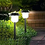 Sogrand Solar Lights Outdoor 6Pack Pathway Decorative Garden Bright White High 15 Lumens LED Stake Light Decorations Waterproof Path Landscape Lighting Yard Decor Driveway Stakes for Outside Walkway