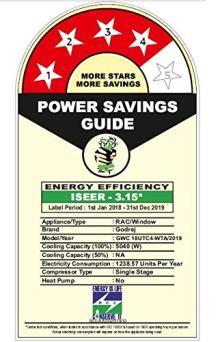 power saving guide Godrej 1.5 Ton 4 Star Window AC (Copper AC 1.5T GWC 18UTC4-WTA Window White)