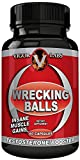 Vigor Labs Wrecking Balls Award Winning Best Testosterone Booster for Men | 100% Natural Herbal Supplements for Male Enhancement, Muscle Building, Metabolism, Energy & Vitality | 60 Capsules
